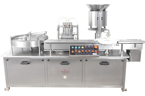 Automatic Liquid Vial Filling Rubber Stoppering Machine